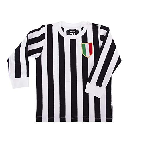 Copa Juventus Turin Baby Retro Trikot mit Rückennummer 10 schwarz-weiß, 74