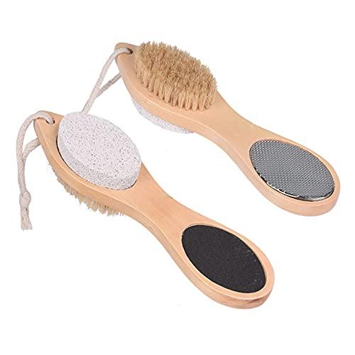 Cuidado de los pies 4 en 1 multifunción: lima de pies, piedra pómez, eliminador de callos, cepillo para pies, eliminador de piel dura, herramienta de cuidado de los pies