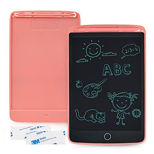 Lavagna LCD 1 Pezzi, Tavolo da Disegno da 8,5 Pollici con 2 Magneti, Blocco per Scrittura a Mano Cancellabile, Blocco Note Portatile Enotepad, Blocco per Tablet Elettronico per Bambini(Rosa)