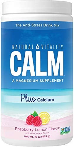 Natural Vitality Calm PLUS Calcium, Magnesium Citrate Supplement Powder, Anti-Stress Drink Mix, Unflavored, 16 Ounces (Package May Vary)