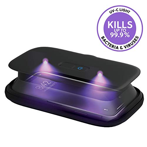 Clean your phone with a UV sanitizer