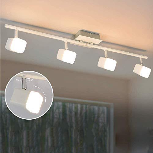 PADMA LED Deckenstrahler Modern mit 4 Flammig Schwenkbar, 16W Deckenleuchte Wohnzimmer Warmweiß, 1600LM, 3000K, 80% Energie Sparen Küchenlampe für Schlafzimmer, Kinderzimemr, Studio, Büro