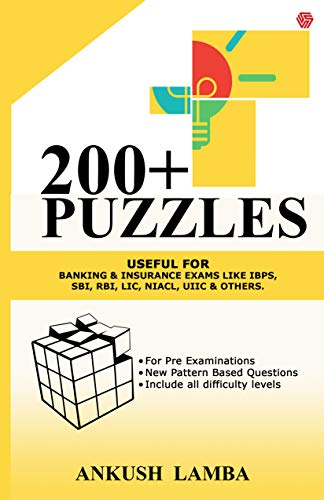 200+ Puzzles-Useful for Banking & Government Exams like IBPS, SBI, RBI, LIC, NIACL, UIIC & others.