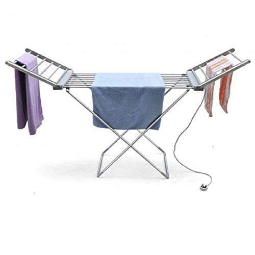 Pink Pari Aluminium Portable Electric Clothes Dryer Heated Hanger Towel Rail Airer Laundry Rack 230 W (Silver)