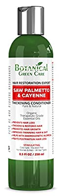 """""""Saw Palmetto & Cayenne"""" Hair Growth Anti-Hair Loss CONDITIONER. Alopecia Prevention and DHT Blocker. Doctor Developed. NEW 2019 FORMULA!"""