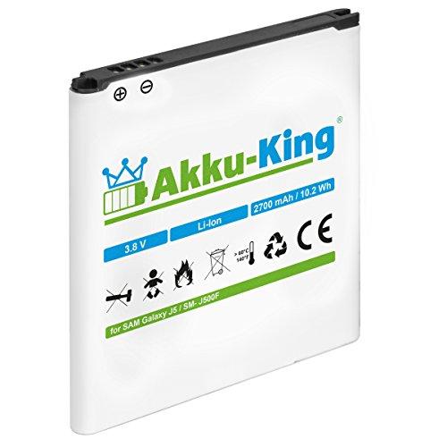 Akku-King Akku kompatibel mit Samsung EB-BG530BBE, EB-BG531BBE - Li-Ion 2700mAh für Galaxy J3 SM-J320F 2016 / J5 SM-J500F / Grand Prime SM-G530F VE SM-G531F