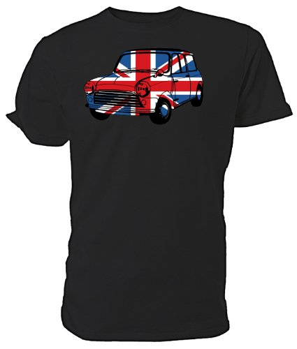 Best of British T Shirt, Union Jack Mini Auto, Schwarz, Größe M