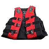 Chaquetas Y Chalecos Salvavidas Salvavidas Chaleco Flotador para Barcos Kayak Adulto Chaleco de Pesca,Red,XXL