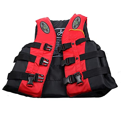 Chaquetas Y Chalecos Salvavidas Salvavidas Chaleco Flotador para Barcos Kayak Adulto Chaleco de Pesca,Red,XL