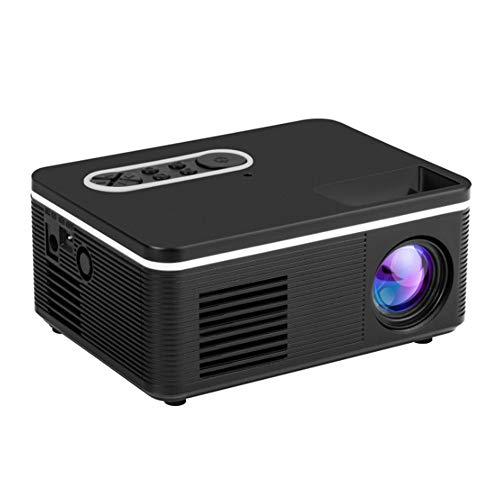 YYZLG Mini proyector casero Led Mini proyector portátil Compatible con proyector 1080p HD-Black