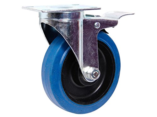pour sols irr/éguliers Roulettee pivotante sans frein Armature en t/ôle acier galvanis/ée Roue /à bandage caoutchouc noir Jantes /à roulement /à rouleaux Economique silencieuse choisir:Castor TR-02e 160 m non tachant