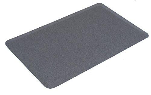 Internet's Best 32-Inch-by-20.5-Inch Anti Fatigue Cushioned Non-Slip Ergonomic Waterproof Floor Mat, Grey