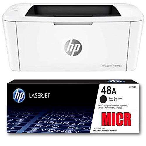 Ampro Laserjet M15w Check Printer MICR Check Printer Bundle with CF248A MICR / 48A MICR Compatible Toner Cartridge. (Prints 1,000 Pages)