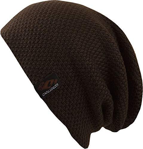 CHILLOUTS Osaka Beanie hochwertige Hüte Mützen und Caps für Herren Damen und Kinder - Kopfbedeckung in 4 Farben, Farbe:Dark Brown (OSA 02)