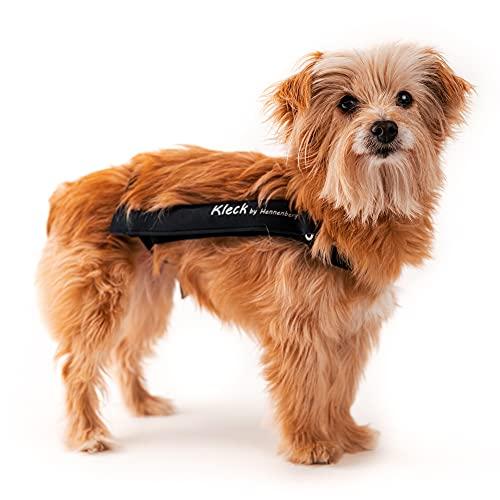 Kleck Leckschutz die Neue Halskrause Schutzkragen Wundschutzanzug Body Alternative für Hunde auch nach Kastration/Hohe Bewegungsfreiheit bei maximalem Schutz (S 22cm bis 31cm)