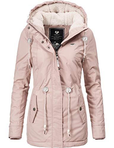 Ragwear Damen Winterparka Kurzmantel Monadis Black Label Old Pink Gr. L
