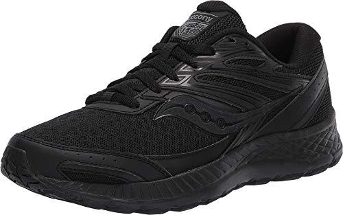 Saucony Women's Cohesion 13 Running Shoe, Black/Black, 9.5