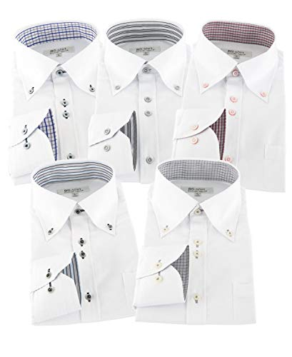 BS-shirt(ビジネスマンサポートシャツ) 長袖ワイシャツ5枚セット 豊富なサイズ bg 033-L