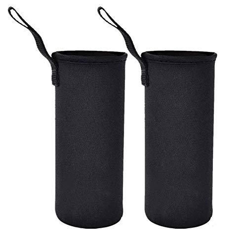 ペットボトルカバー 水筒カバー 断熱ネオプレン 水筒ケース ボトルカバー ホルダー750ml 用 (750ml -2 Pack ブラック)
