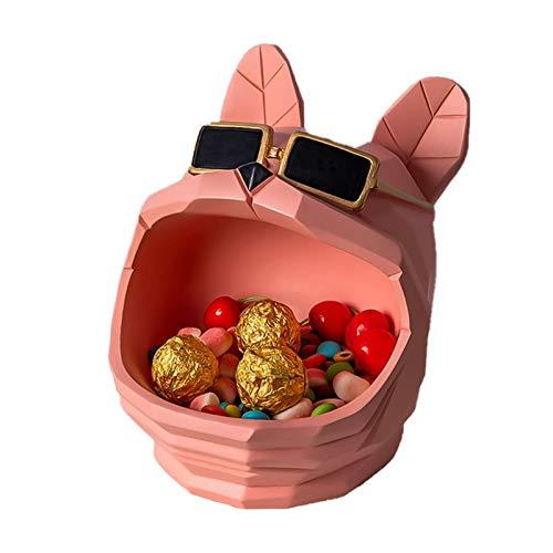 KHUY Vaciabolsillos Recibidor, Llavero Organizador de Llaves Multifuncional Bandeja Decorativa Centro de Mesa Hogar Llavero Moneda Cambio de Relojes y Bandeja para Dejar Llaves (Color : Pink)
