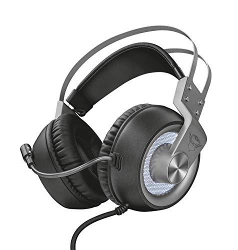 Trust GXT 4376 Ruptor Gaming Headset/Kopfhörer (7.1 Virtual Surround Sound, für PC und Laptop, LED-Beleuchtung) schwarz