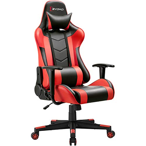 Devoko Ergonomic Gaming Chair Racing Style Adjustable Height High Back PC...