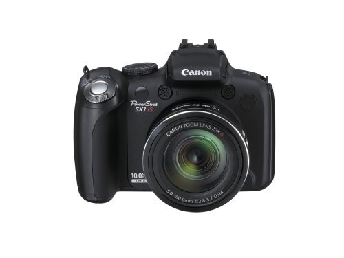 Canon PowerShot SX1IS 10 MP CMOS Digital Camera with 20x Wide Angle Optical Image Stabilized Zoom and 2.8-inch LCD