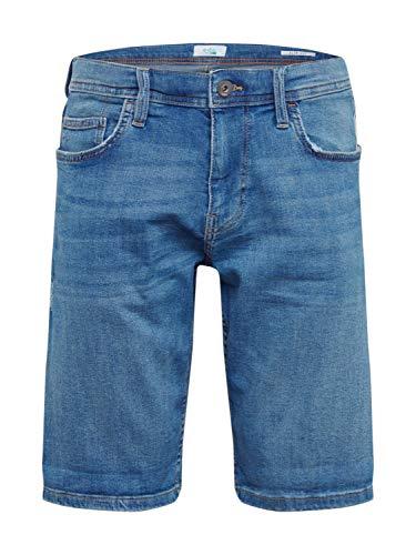 edc by ESPRIT Herren 030CC2C309 Shorts, 903/BLUE Light WASH, 34