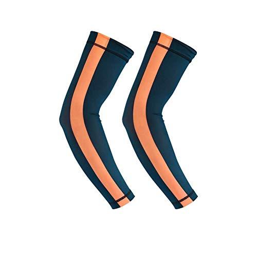 EverNight Unisex Arm Compression Sleeves, Armlinge UV-Schutz, Für Baseball-Basketball-Sport-Tattoo Cover - 2 Paar,1,XL