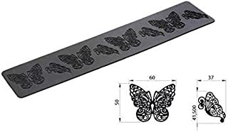 Silikomart - TRD02 Butterfly - 6 Silicone MAT 80X400 H 1 MM Black