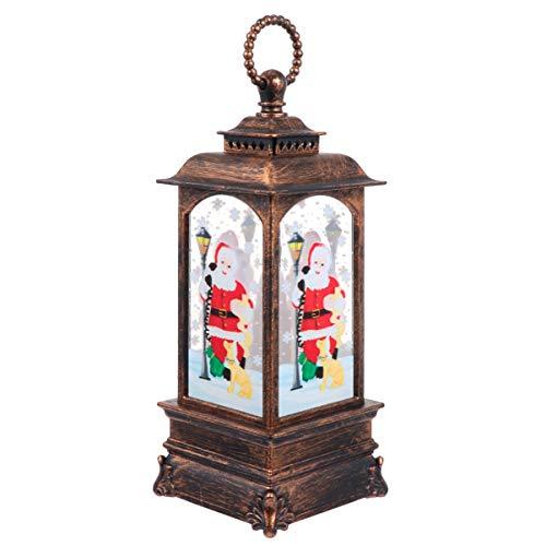 WINOMO Weihnachtskerze Laterne Weihnachtsmann Flammenlos LED Kerzenlaternen Schneekugel Wasserlaterne Desktop-Ornament für Weihnachtsferien Dekoration