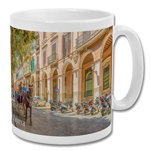 Taza de recuerdo de Mallorca España Caballo Palma City – 295 ml