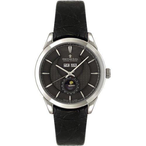 Dreyfuss & Co DGS00068/20 - Reloj para Hombres, Correa de Acero Inoxidable Color Negro