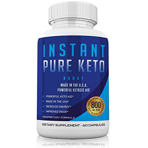 Instant Pure Keto Pills with Advanced Ketones - Ketogenic Supplement Exogenous Ketones Ketosis for Men Women 1 Month Supply