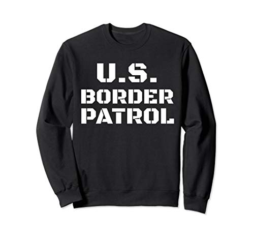 Halloween Border Patrol Costume Immigration Customs Officer Sweatshirt