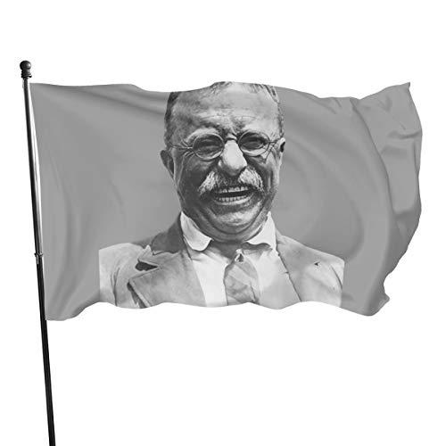 N/ President Teddy Roosevelt Kunstdruck Flagge Banner Flaggen, 91 x 152 cm