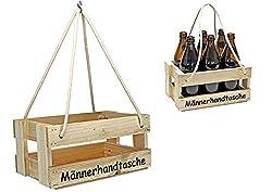 protectore Bierträger - Flaschenträger - Männerhandtasche - Getränkekorb - Sixpack - leer - Geschenkidee - Flaschenkiste- Bier - Vatertag