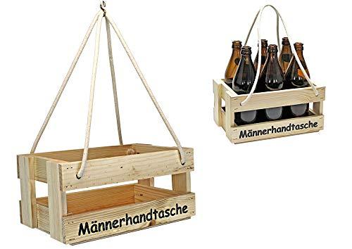 protectore Bierträger - Flaschenträger - Männerhandtasche - Getränkekorb - Sixpack - leer - Geschenkidee - Flaschenkiste- Bier - Vatertag - Tragerl