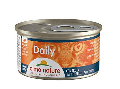 Almo Nature Daily Katzenfutter Häppchen mit Forelle (24 x 85 g)