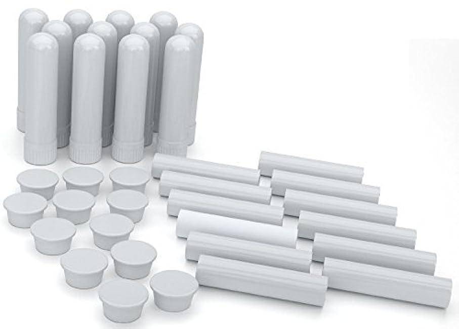 召集する考案する頼るEssential Oil Aromatherapy Blank Nasal Inhaler Tubes (12 Complete Sticks), Empty White Vapor Inhalers w/Wicks for Essential Oil, Refillable [並行輸入品]
