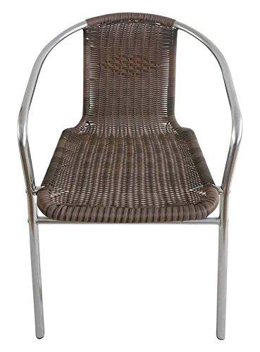 PAPILLON 8042013 8042013-Silla para terraza, de Aluminio, Marrón, 60x55x75 cm