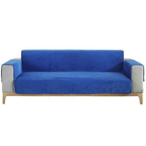 Suuki Cubre sofá sillón Funda Antimanchas,Funda de sofá para Mascotas para sofá de Cuero y Tela,Funda de sofá Universal para Perros Gatos,Cubierta Completa antiarañazos-Zafiro_2 plazas/loveseat