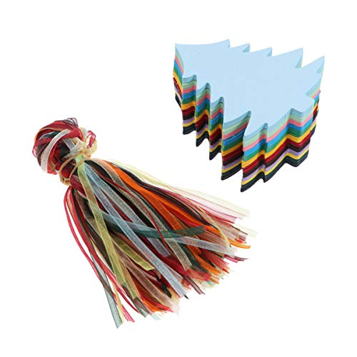 HEALLILY Weihnachtsgeschenkanhänger 240Pcs Kraftpapier Geschenkanhänger DIY Geschenkbonbonbox Taschen Nachrichtenkarten für Weihnachtsfeier Begünstigung Liefert (8. 2 * 7. 5Cm)