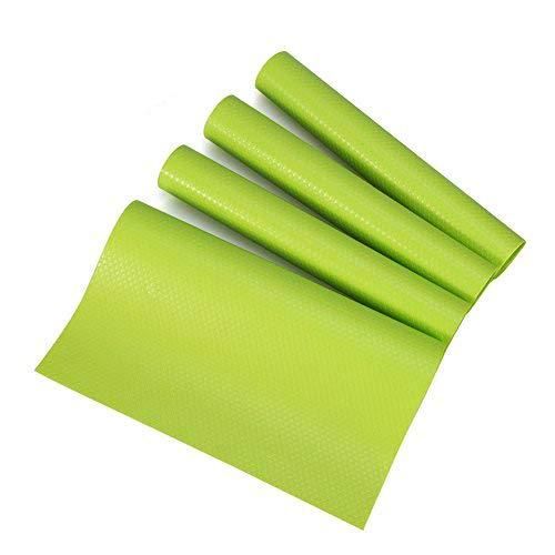 Yosoo 4 pcs set 29 cm * 45 cm moda frigorifero Pad antibatterico muffa umidità assorbimento antincrostazione Preserving Pad Tappetini per frigorifero Fridge Base cuscino Green