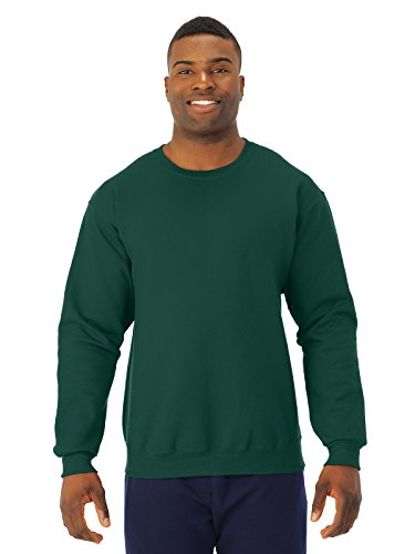Jerzees-CrewNeck Sweat Shirt 50/50 Poly/Cotton 8oz. ~Forest Green~Adult-XL