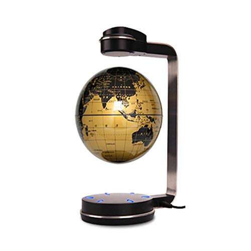 Whinop 6' Magnetic Globe Floating Light with LED Light,Yellow Magnetic Globe Lamp for Kids