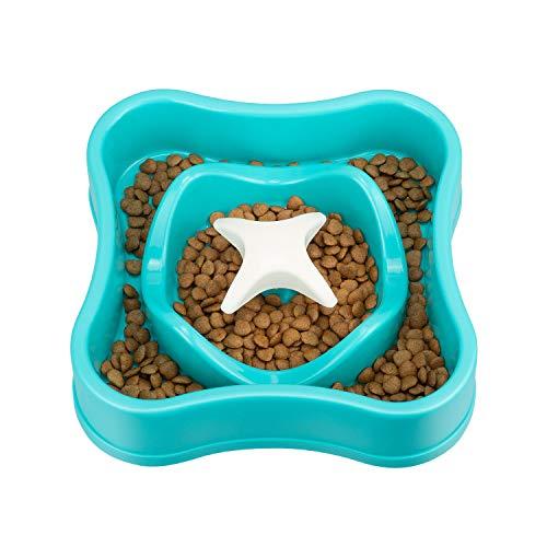IAMUQ Slow Feeders Health Dog Food Bowl Fun Interactive Bloat Stop Dog Cat Bowl