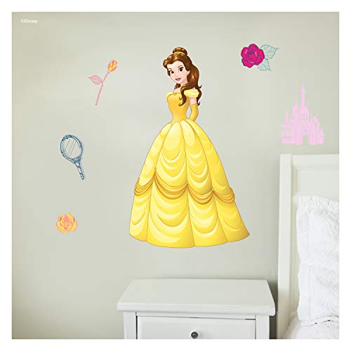 Disney Princess Wall Decals  Belle Beauty and The Beast Disney Wall Decals with 3D Augmented Reality Interaction  Princess Wall Decals for Girls Bedroom  Princess Room Decor