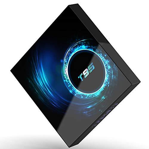 Space element Android 10.0 TV Box, [4G + 128G] T95 Allwinner H616 5G STB Admite BT5.0, Interfaz HDMI, USB, Tarjeta TF Smart TV Box,4+128 Dual WiFi+BT[AU]