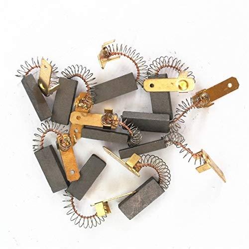 Pangocho Jinchao-Motor de Corriente Continua Motor eléctrico de 10pcs, Pinceles de carbón Herramienta de Potencia genérica, para Alambre EDM Machine Spindle DC Motors, etc, Fácil de Instalar